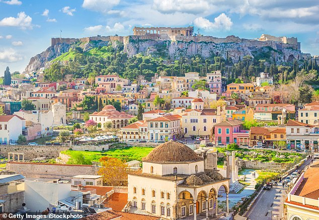 To date, Greece has reported 3,321 cases of coronavirus, including 191 deaths, far fewer than most western European countries. Pictured: Athens