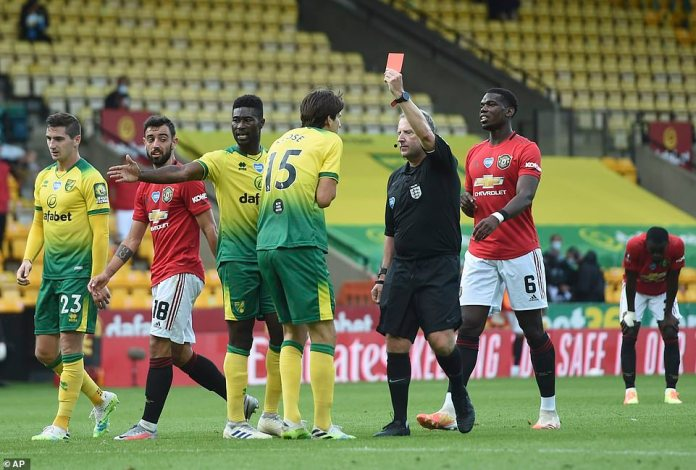 Hosts fell to 10 men late under normal circumstances as Timm Klose was sent off for a shot on striker Odion Ighalo