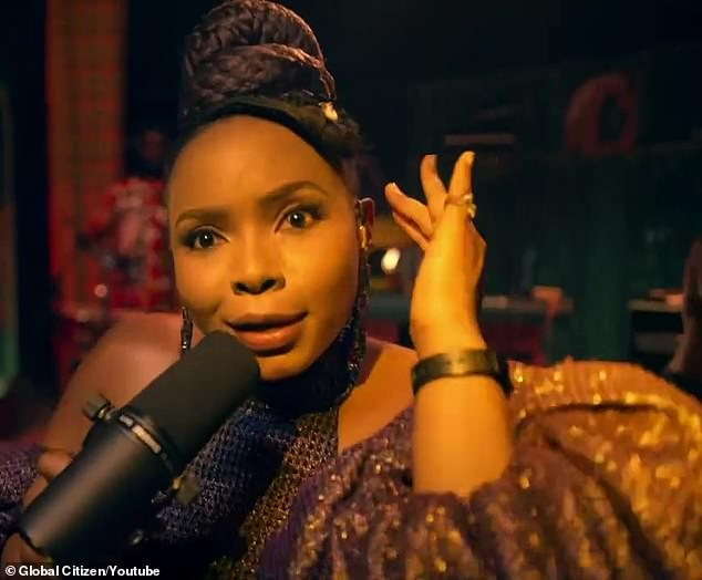 Global talent: Nigerian star Afropop Yemi Alade sang her number Shekere, which appeared on her album Woman Of Steel last year
