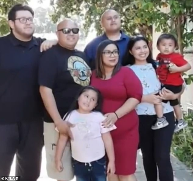 Shortly after her diagnosis, 27 other family members (photo), including her 60-year-old father, Vidal Garay, fell ill.