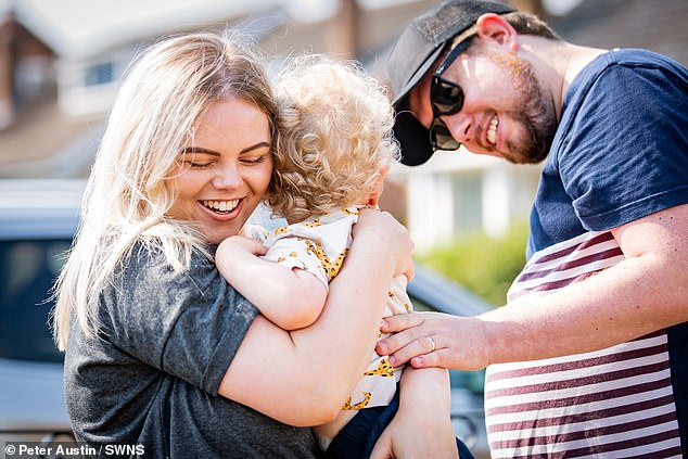 Charlotte and Daniel hope they never have to be separated from George again after almost three months apart
