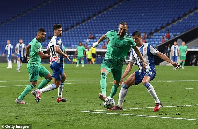 Benzema assisted his team-mate with a backheel through the legs of Bernardo Espinosa