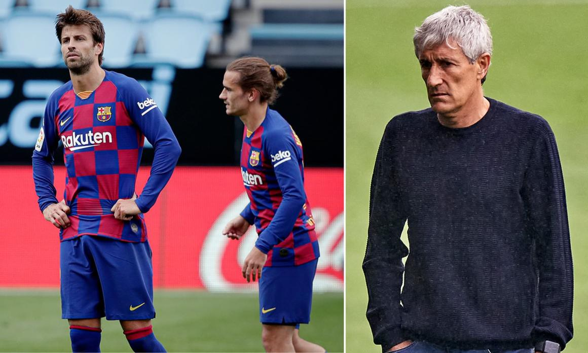 Barcelona stars 'in furious bust-up with under-fire coach Quique ...