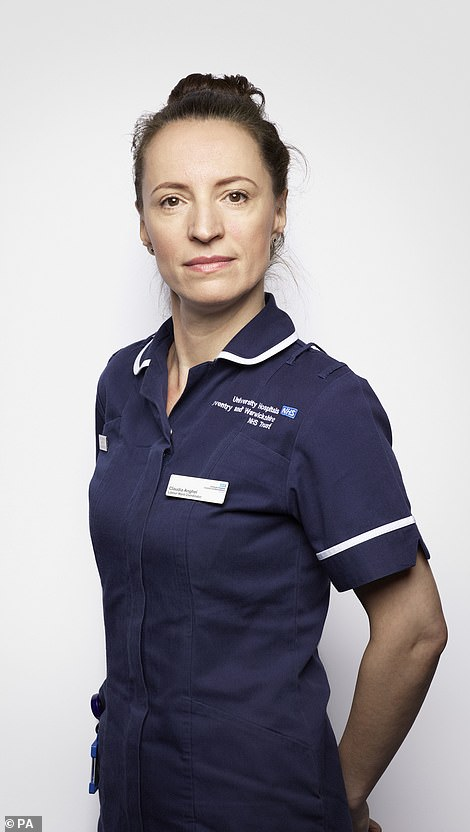 Claudia Anghel, midwife at University Hospital Coventry and Warwickshire