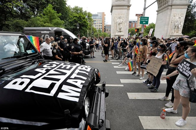 Organizers said that the killing of George Floyd on May 25 spurred them to rethink their plan to call the march off this year