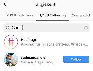 Nicht beachtet: Letzten Montag bemerkten die Fans, dass das Paar auf Instagram nicht mehr aufeinander folgte
