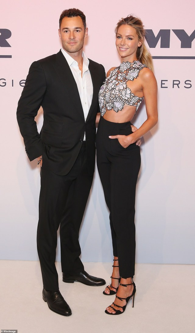 Finally sold!  Jennifer Hawkins, 36, and husband Jake Wall, 37 (pictured together) sold their $ 20 million mansion in Sydney after struggling to find a buyer for six months