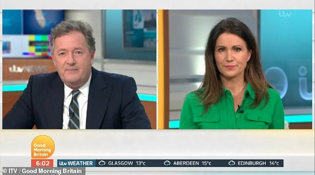 Terrible: Piers said he couldn't 'walk, breathe or speak' as he suffered from heat exhaustion after playing golf in the sun on Friday