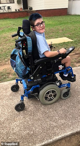 Riley is increasingly reliant on his wheelchair as his condition deteriorates