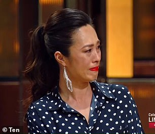 Getting emotional: MasterChef judge Melissa Leong (pictured) was moved to tears during Monday's episode