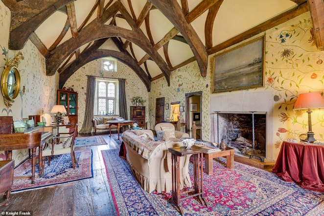 In total the house has over 15,000 sq ft of living space. As well as five bedrooms in the main house and another four in the attached north wing, there are also two cottages and three flats