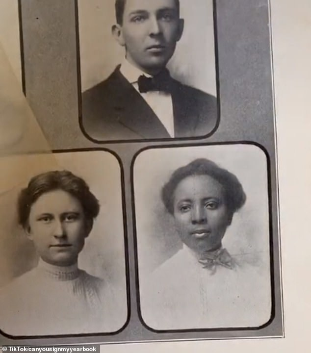 Looking back: Leavenworth High School had black students in each class in 1908. One senior, Florence Wiginton, sparked the curiosity of viewers