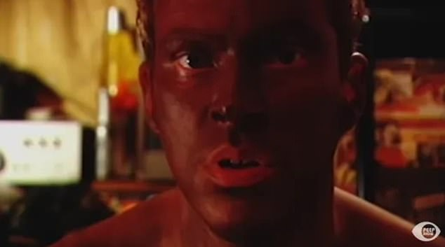 In the scene, from series two, Robert Webb's character Jez 'blacks up' while experimenting in the bedroom with his American girlfriend Nancy