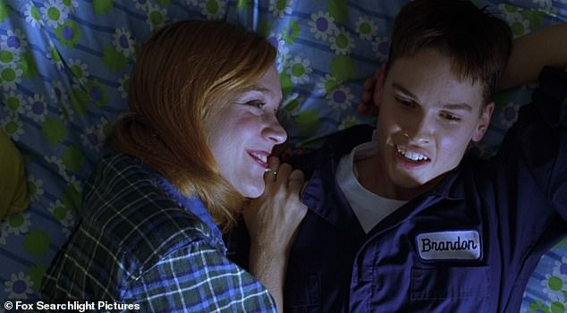 Heart-wrenching 1999 biopic: Sevigny received her only Oscar nomination for playing leading lady to Hilary Swank's (R) trans man Brandon Teena in Kimberly Peirce's Boys Don't Cry