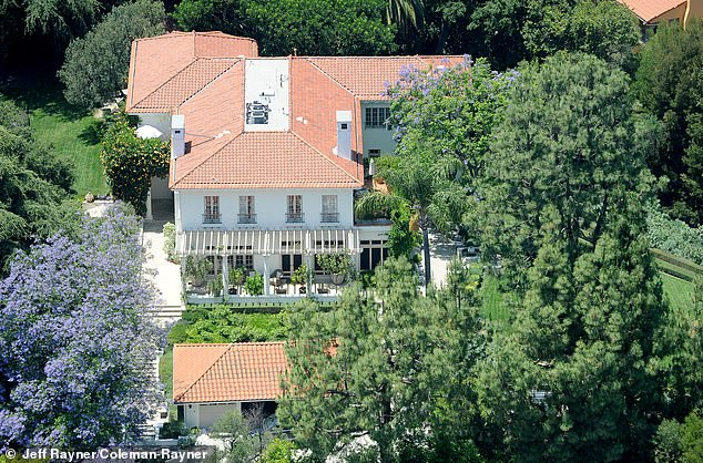 Previously, Jolie's mansion had a very bare, clinical-looking yard until recently. New features spotted in the aerial pictures appear to show a significant shift in her parenting style