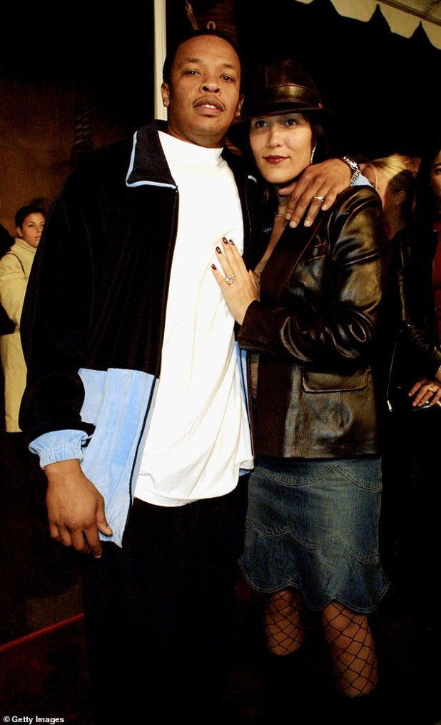 Flashback: dr.  Dre and his wife Nicole Young at the film's premiere in 2001 in Los Angeles.  Divorce documents show the pair dating back to March this year