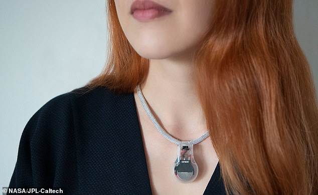 The Jet Propulsion Lab has designed a 3D printable necklace that vibrates, or omits a pulse, when the wear's hands are too close to their face