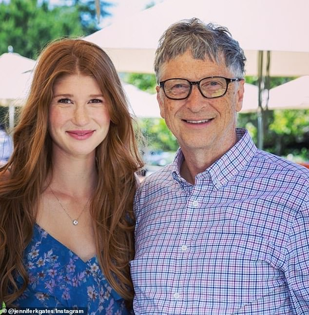 Goal: Jennifer, pictured with her father in 2018, said she was 'born into a huge situation of privilege' and wants to use her opportunities to 'make the world a little bit of a better place'