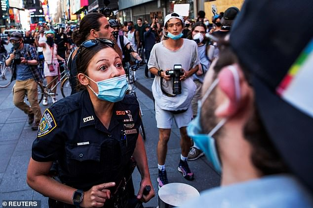 When pressed, de Blasio said the cuts to the police department were partially linked back to the city¿s deficit, but added that the weeks of mass protests that followed the police killing of George Floyd in Minneapolis also pushed him to act