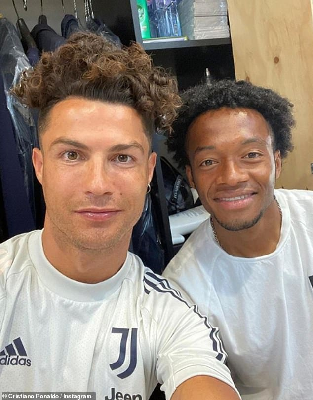 New do?Cristiano Ronaldo took to Instagram on Monday to show off his new hairstyle alongside fellow footballer Juan Cuadrado