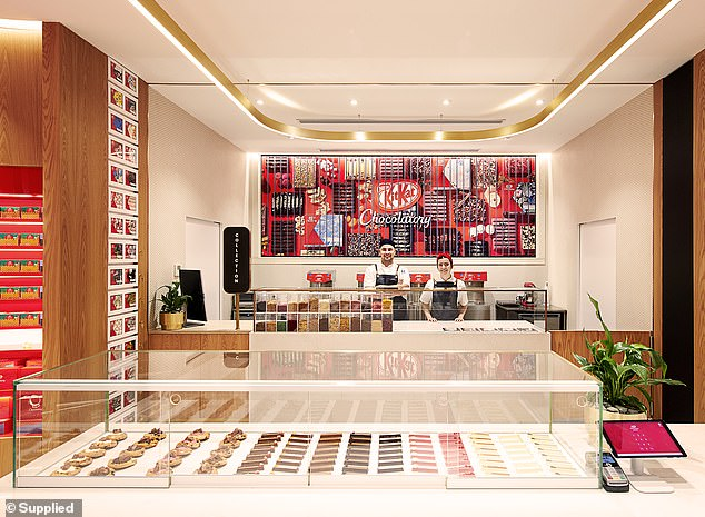 KitKat is set to open its first 'Chocolatory' boutique in Sydney - complete with 30,000 flavour combinations, a tasting train, a chocolate-making station and an in-house café