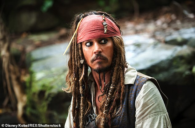 Depp, 57, in one of his most famous roles in the Pirates of the Caribbean series of films