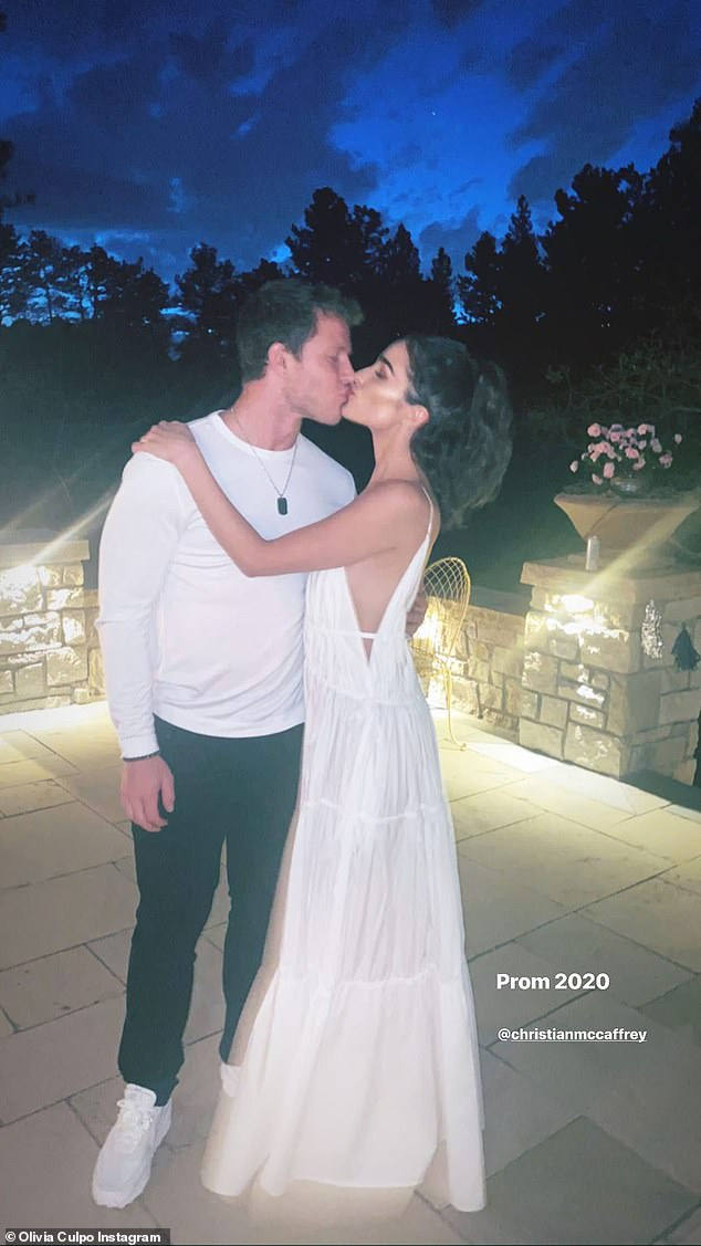 Kiss me!Olivia and Christian began dating last summer after meeting through mutual friends