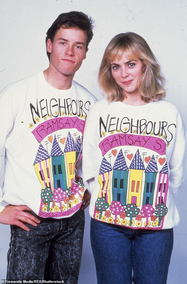 Familiar face:Annie starred on Neighbours between 1986 and 1989, a period which is often referred to as the glory years of the soap