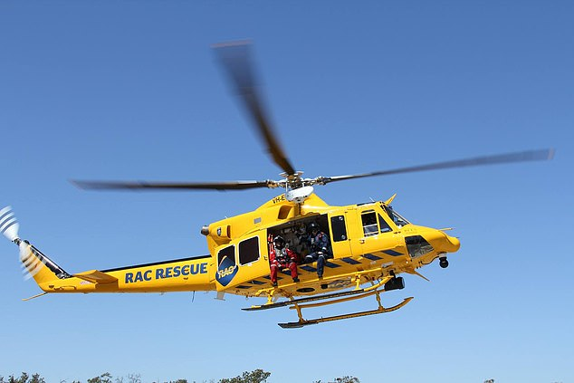 The RAC Rescue Helicopter is also conducting a search of the area (stock image)