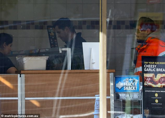 Phelan stopped at a local Subway restaurant during his walk through the Sydney suburbs near where he is currently living