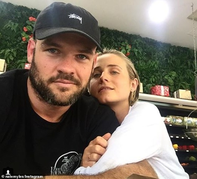 'Can't wait to share more with you': Tessa's post comes after the actress revealed her plans to open a holistic wellness centre. Pictured with her husband Nate
