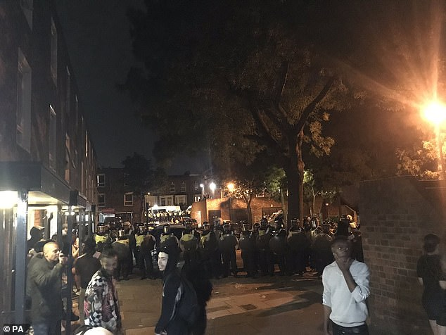Police were called to break up an unlicensed music event in West Kilburn on Friday evening