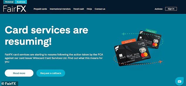Prepaid foreign currency card provider FairFX said this morning its cards would soon begin to work again after the FCA lifted the restrictions on Wirecard