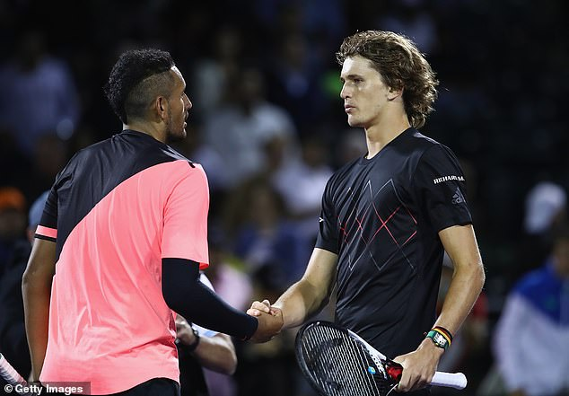 Kyrgios (left) has not been afraid to hit out at friends when he believes they have done wrong