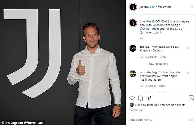 The Brazilian has now left the club and joined Juventus, doubling his wages in the process