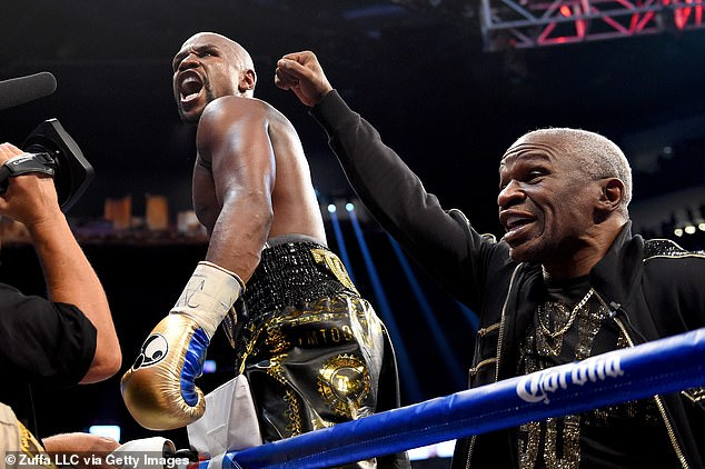 Floyd Mayweather Jr (left) and Sr (right) worked together during the former's career