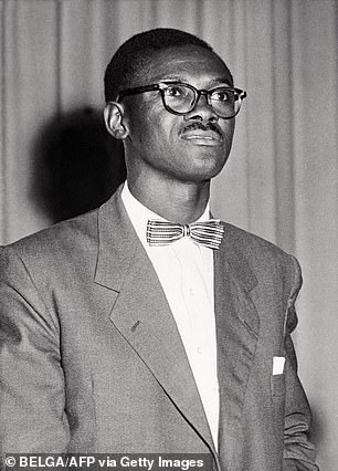On the day Congo broke away from Belgian colonial rule, the country's prime minister and independence icon Patrice Lumumba (pictured) delivered a scathing speech about the racist maltreatment and 'humiliating slavery' the Congolese people had endured