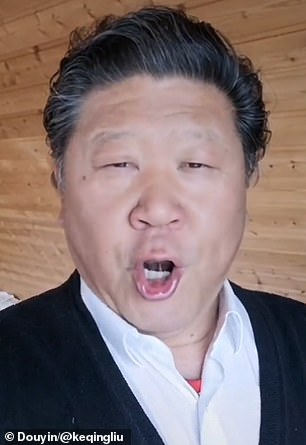 Mr Liu posted a video on May 10, claiming that his account had been censored by the social media platform for 'image violation',