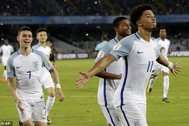 The pair (left and right) were integral parts of the triumphant England under 17 World Cup side