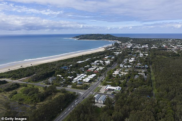 Victorians are among hundreds of holidaymakers flocking to the northern New South Wales beach town of Byron Bay