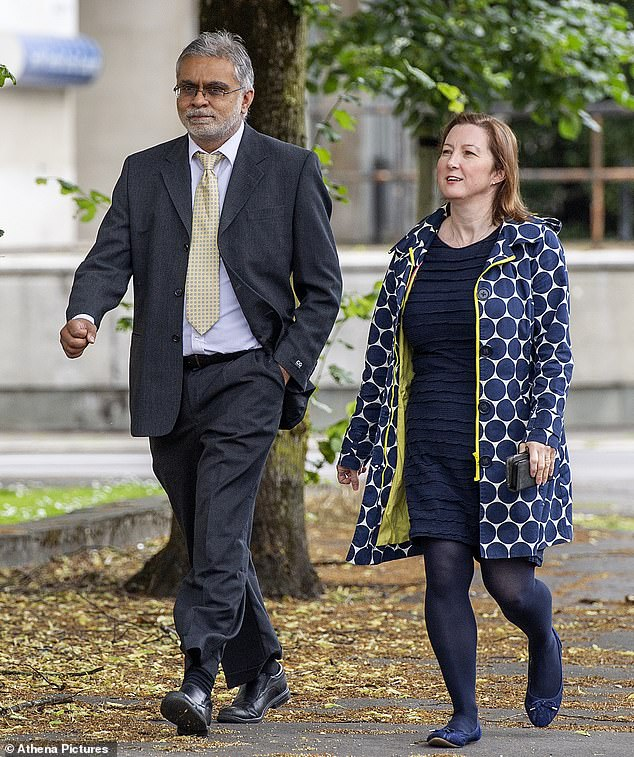 Consultant gynaecologist Dr Harsit Tejura, 51, from Cardiff,with his wife Dr Amanda O'Leary