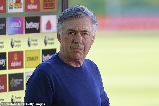 Everton boss Carlo Ancelotti seemed genuinely confused when asked about the defender