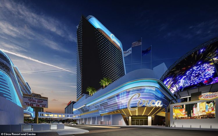 The resort promises to 'pay homage to Las Vegas' history' by 'fusing vintage Vegas with modern luxuries and cutting-edge technology'
