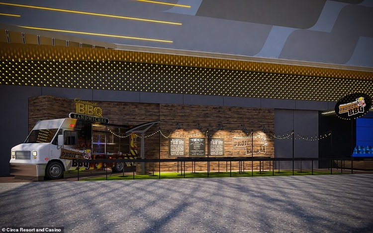 At the Project BBQ restaurant, pictured, guests will be able to enjoy Carolina barbecue cuisine