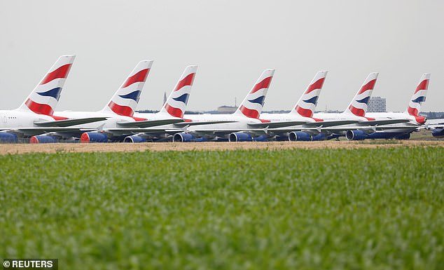 The news is a huge blow to its site at Broughton in Wales, where wings are manufactured, and its other factory at Filton in Bristol (pictured, British Airways Airbus A380 airplanes)