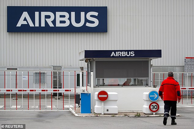 Aerospace giant Airbus is to cut 1,700 jobs in the UK as the coronavirus pandemic causes 'the gravest crisis' the aviation industry has ever faced (Airbus facility near Nantes, France)