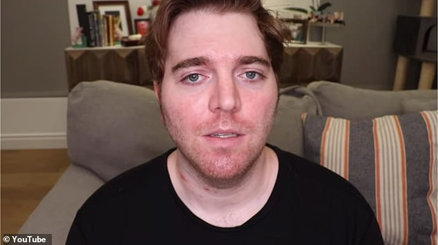 Not letting go: Shane, 31, issued an apology video this week for years of racist, anti-Semitic, and sexist videos