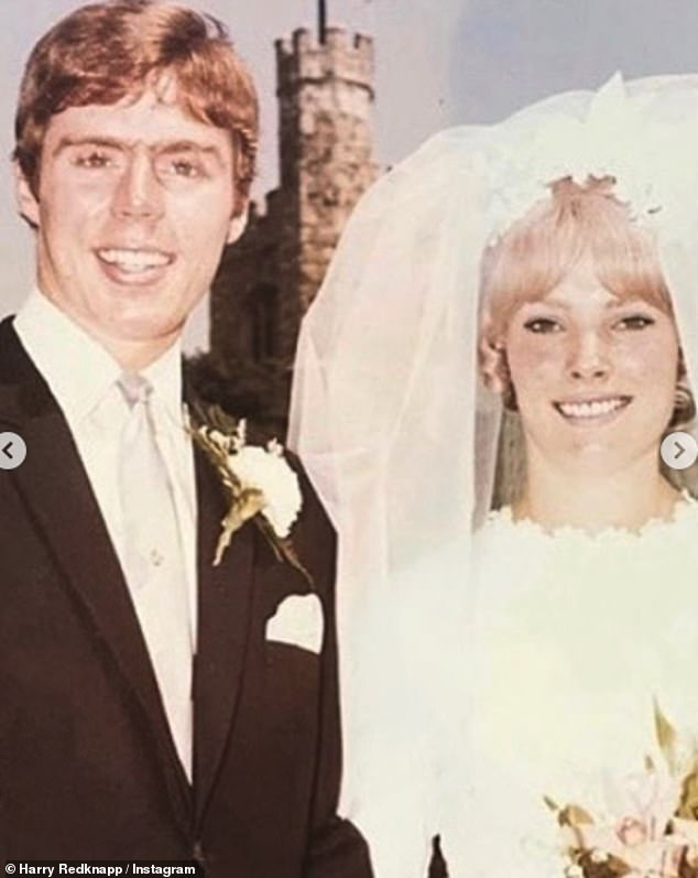Adorable: The former football manager, who has had stints at West Ham, Tottenham Hotspur and Queens Park Rangers, is always very open about his undying love for his wife (pictured on their wedding day in 1968)
