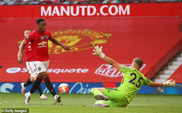 Martial scored a hat-trick against Sheffield United last week to take his league tally to 14 goals