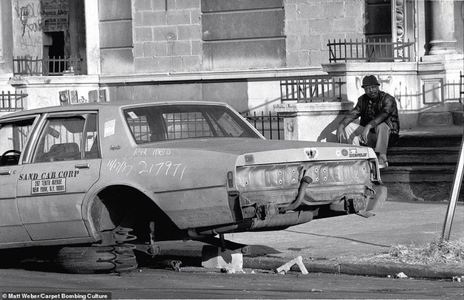 Above, a taxi without wheels in New York City in 1987. Due to COVID-19 and the lockdown, New York City now faces a $9 billion budget hole. Protests continue to defund the NYPD with Mayor Bill de Blasio and the City Council contemplating $1 billion in cuts to the police force that would include cutting around 1,100 police recruits, Politico reported. Protesters who have been camped outside of City Hall for days say cut is not enough